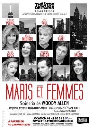 &quot&#x3B;Maris et Femmes&quot&#x3B; au Théâtre de Paris (Salle Réjane)