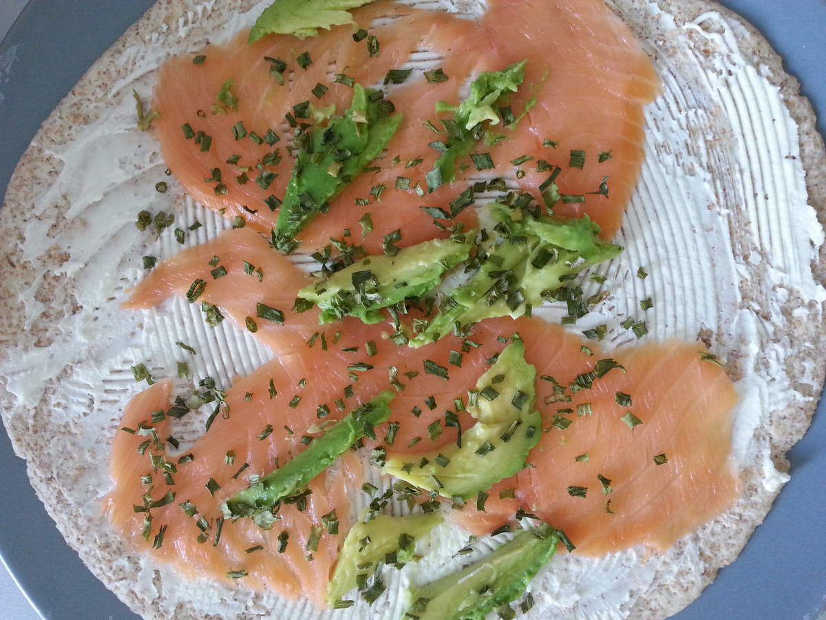 Wrap frais saumon fumé - avocat