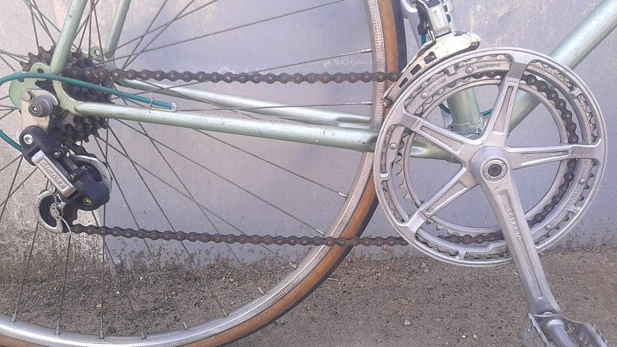 Vélo Raymond Poulidor équipé pédalier alu