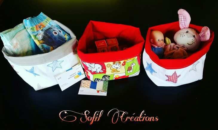 Petit panier de rangement pour y mettre plein d'affaires à bébés !! Bientôt dans la Boutique en ligne �  https://www.etsy.com/fr/shop/SoFilcreations?ref=hdr_shop_menu