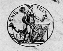 Timbre de 1808 département de Saône et Loire