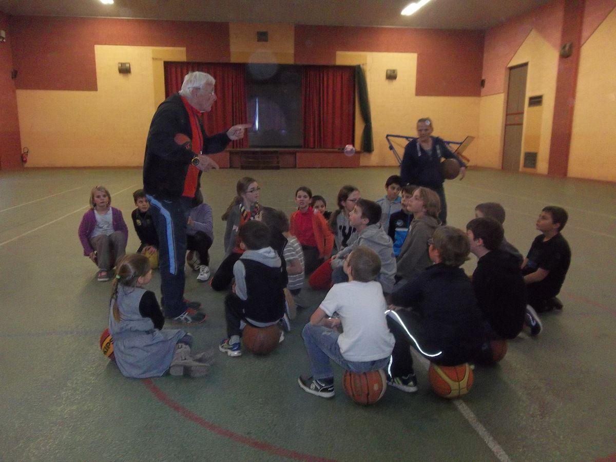 initiation au basket (période novembre-décembre)