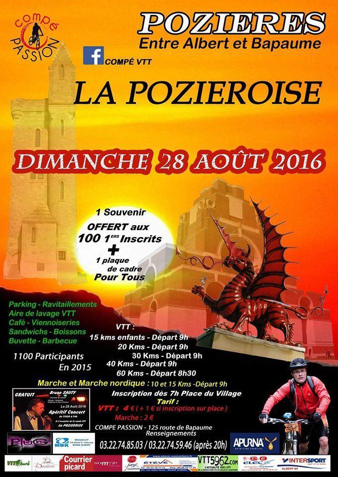 Ne ratez pas La Pozieroise ce dimanche 28 aout !!!!