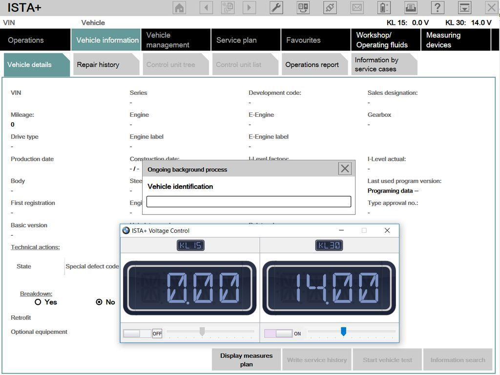 How to use BMW ISTA Voltage Control tool function