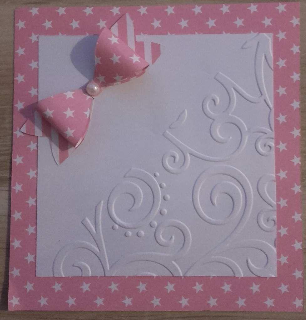 carte recto verso rose et blanc
