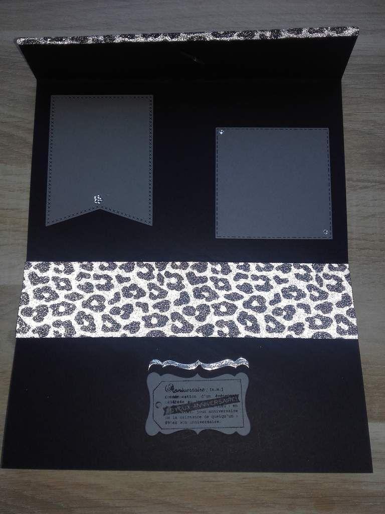 Carte façon &quot&#x3B;pochette léopard&quot&#x3B;