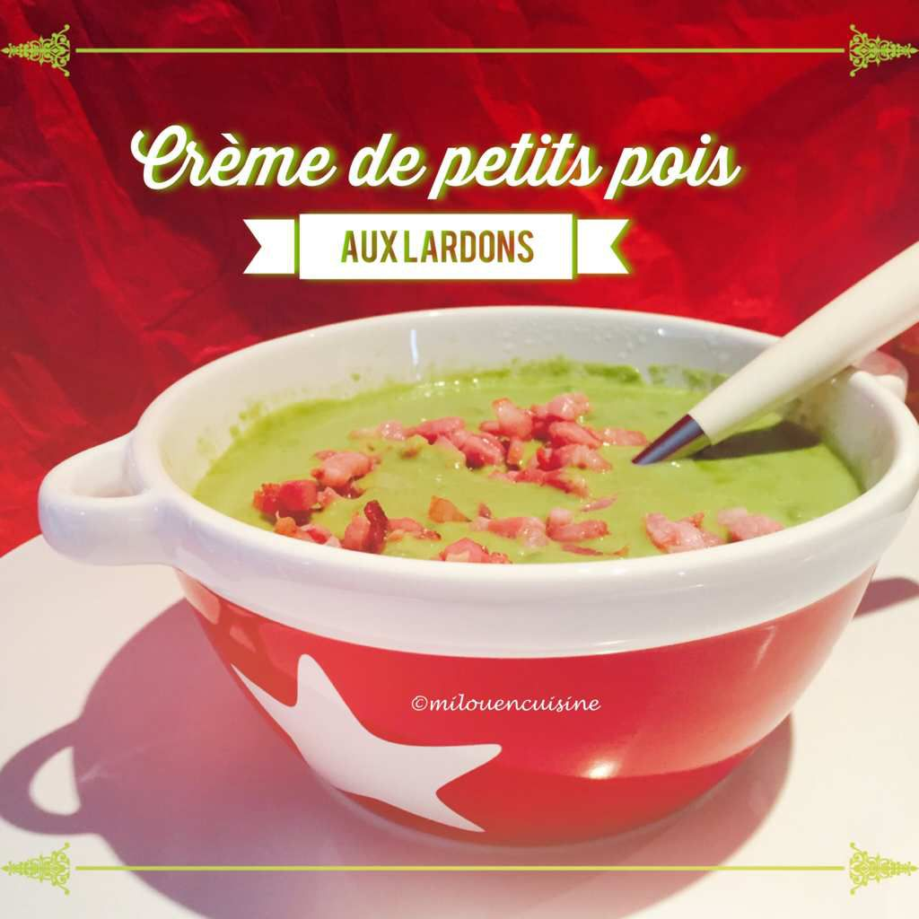 soupe petits pois thermomix
