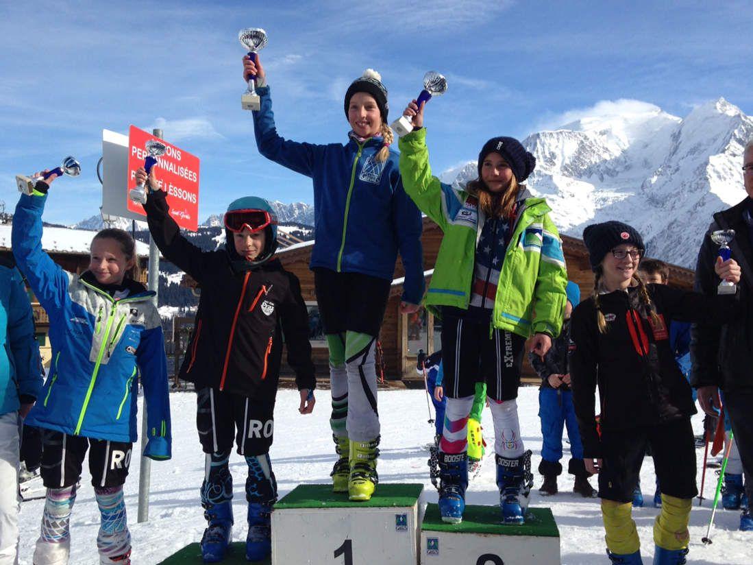 Chacha la slalomeuse!!! 3ème à Saint Gervais