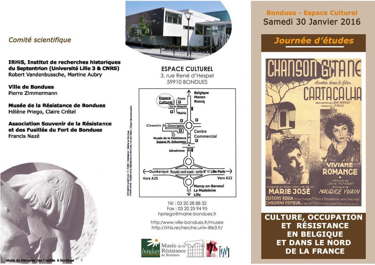 Culture, occupation et Résistance en Belgique et dans le Nord de la France : une journée d'études au musée de la Résistance de Bondues