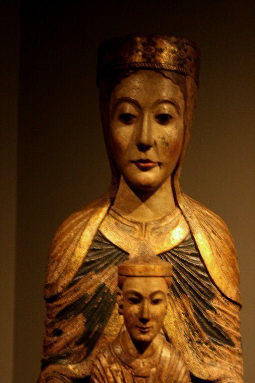 Oeuvres gothique, baroque, renaissance et en dernier:  Mère de Dieu avec l'enfant Jésus, France, deuxième moitié du XIIe siècle, Puentedura (Burgos).