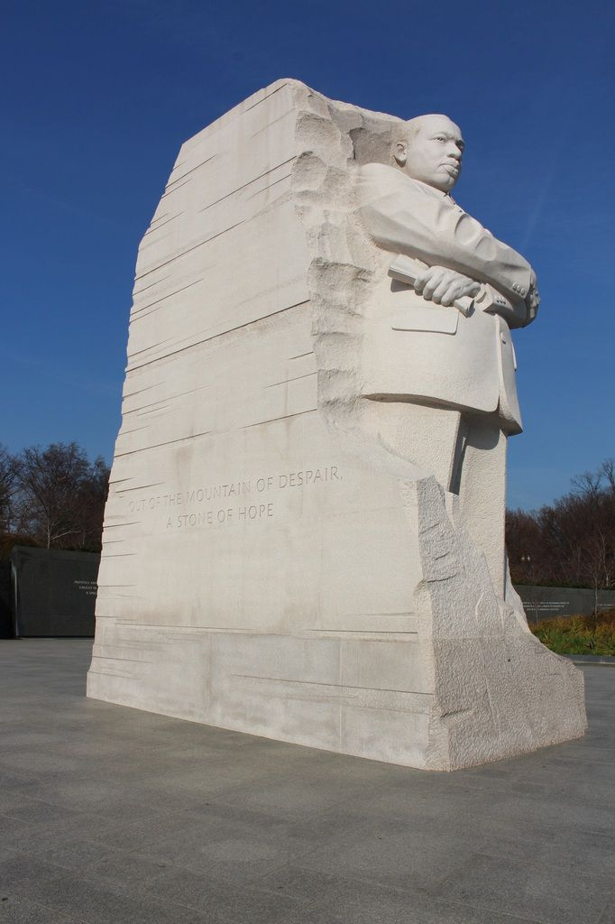 "Martin Luther King Jr. Memorial, ""Out of the mountain of despair, a stone of hope."""