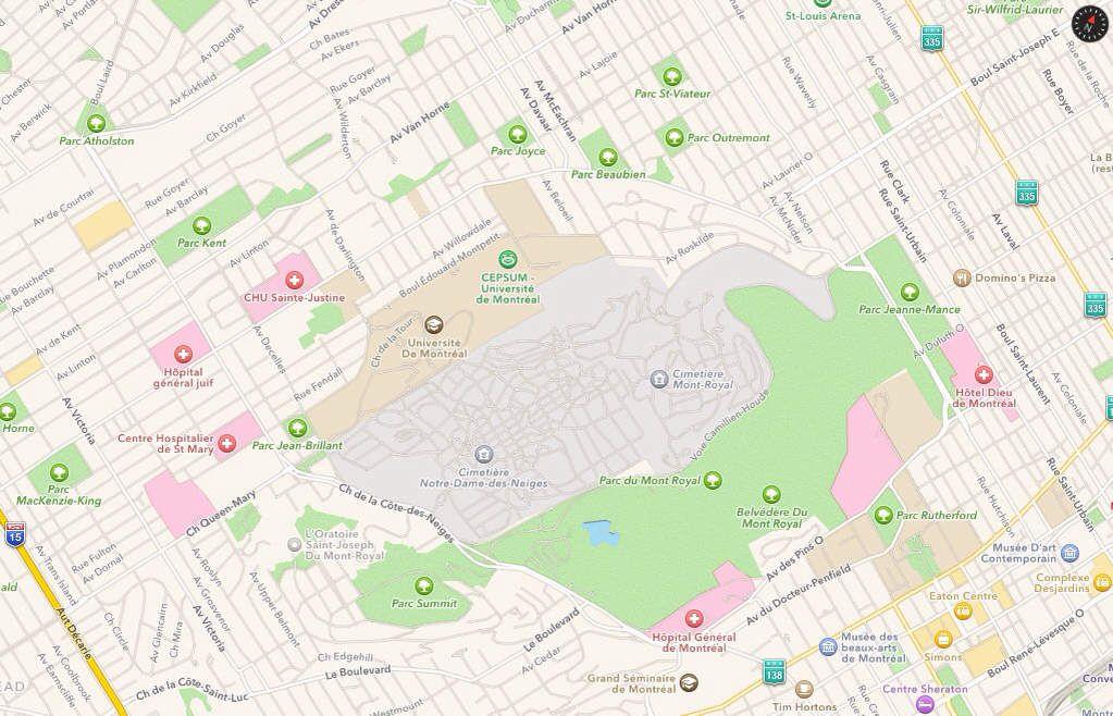 Montréal : le quartier du Mont-Royal