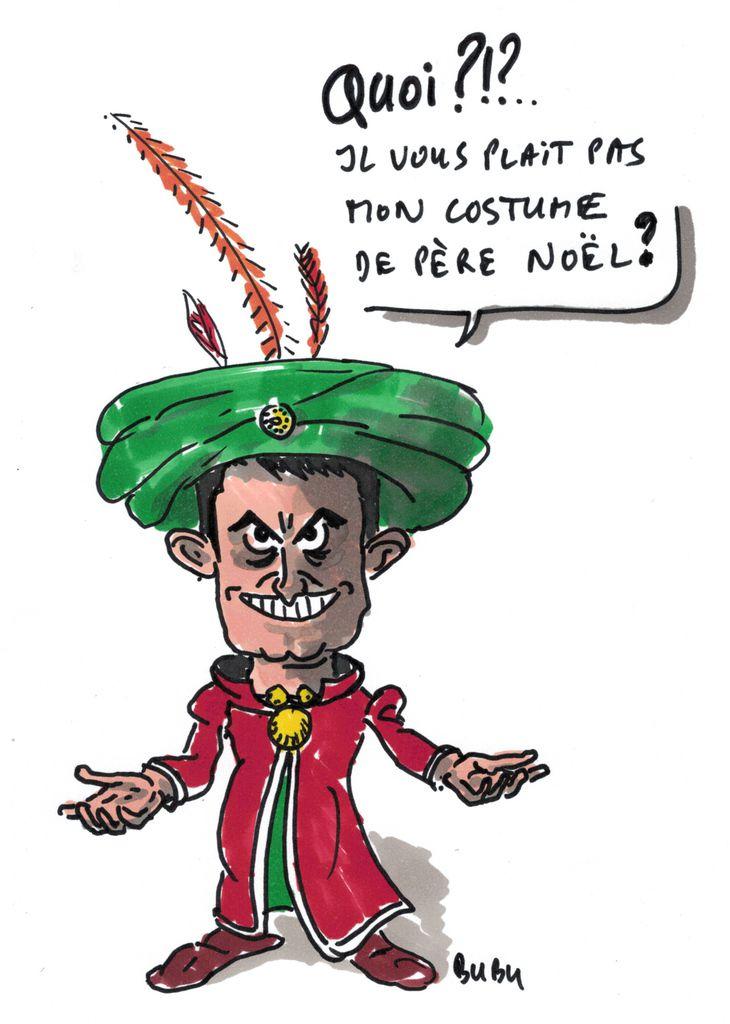 Le nouveau costume de Valls !