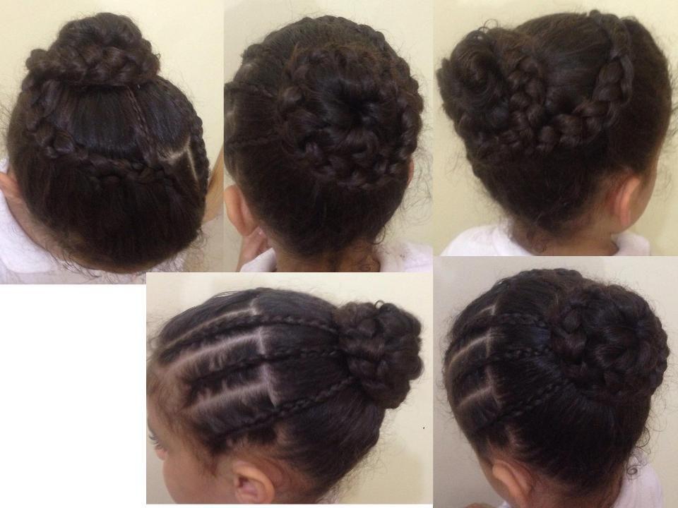 chignon tress coiffures pour petites filles. Black Bedroom Furniture Sets. Home Design Ideas