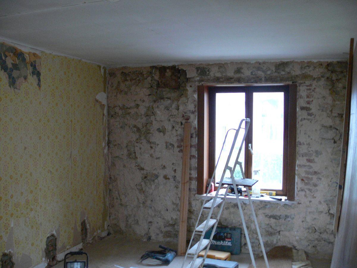 salle de bain renovation maison pierre 1900. Black Bedroom Furniture Sets. Home Design Ideas
