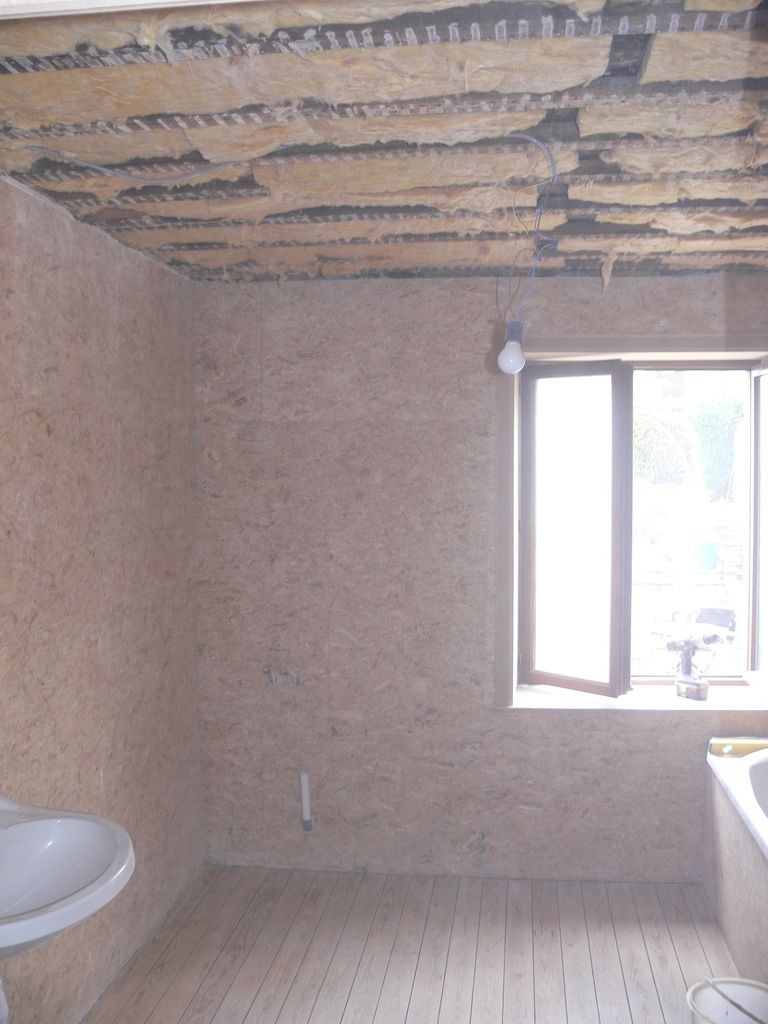 Salle de bain plafond renovation maison pierre 1900 for Refaire son plafond