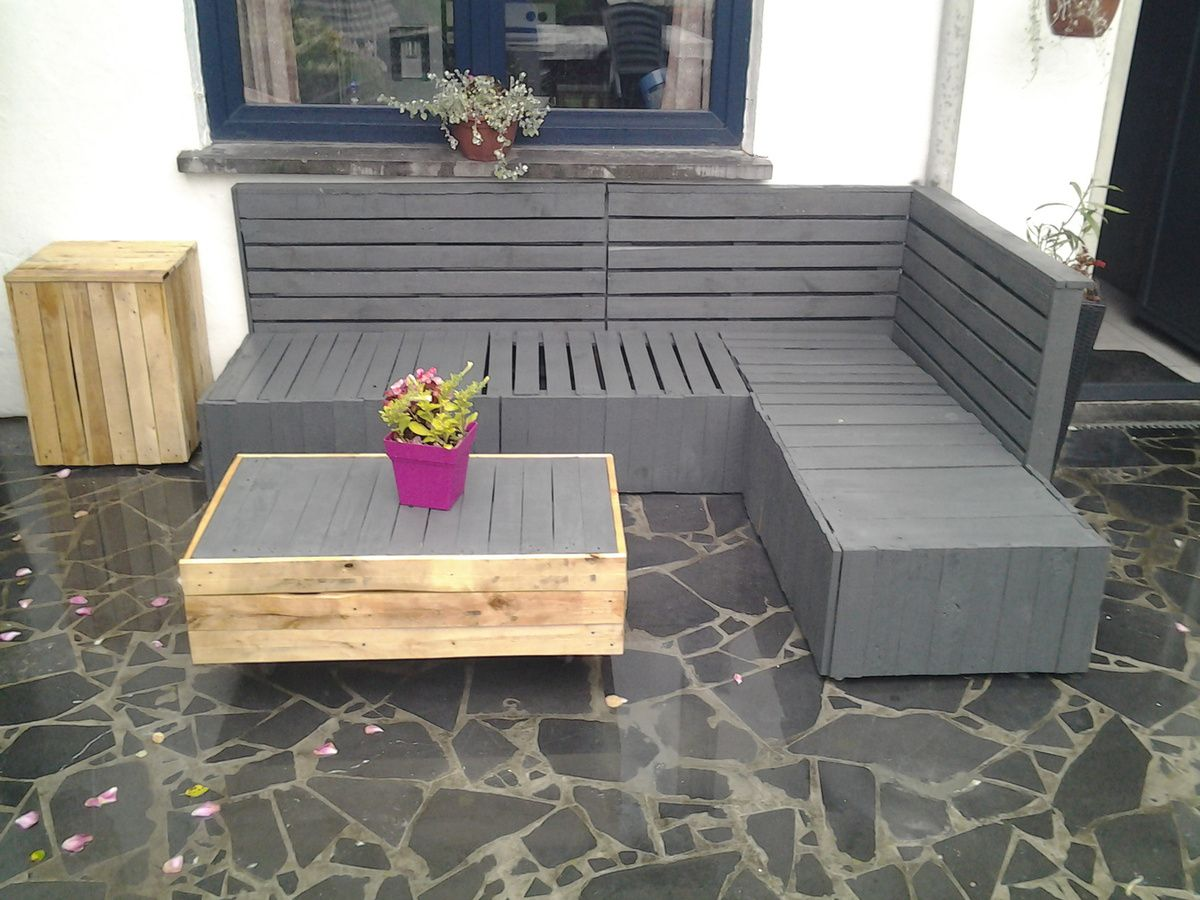 salon de jardin en palette a vendre. Black Bedroom Furniture Sets. Home Design Ideas