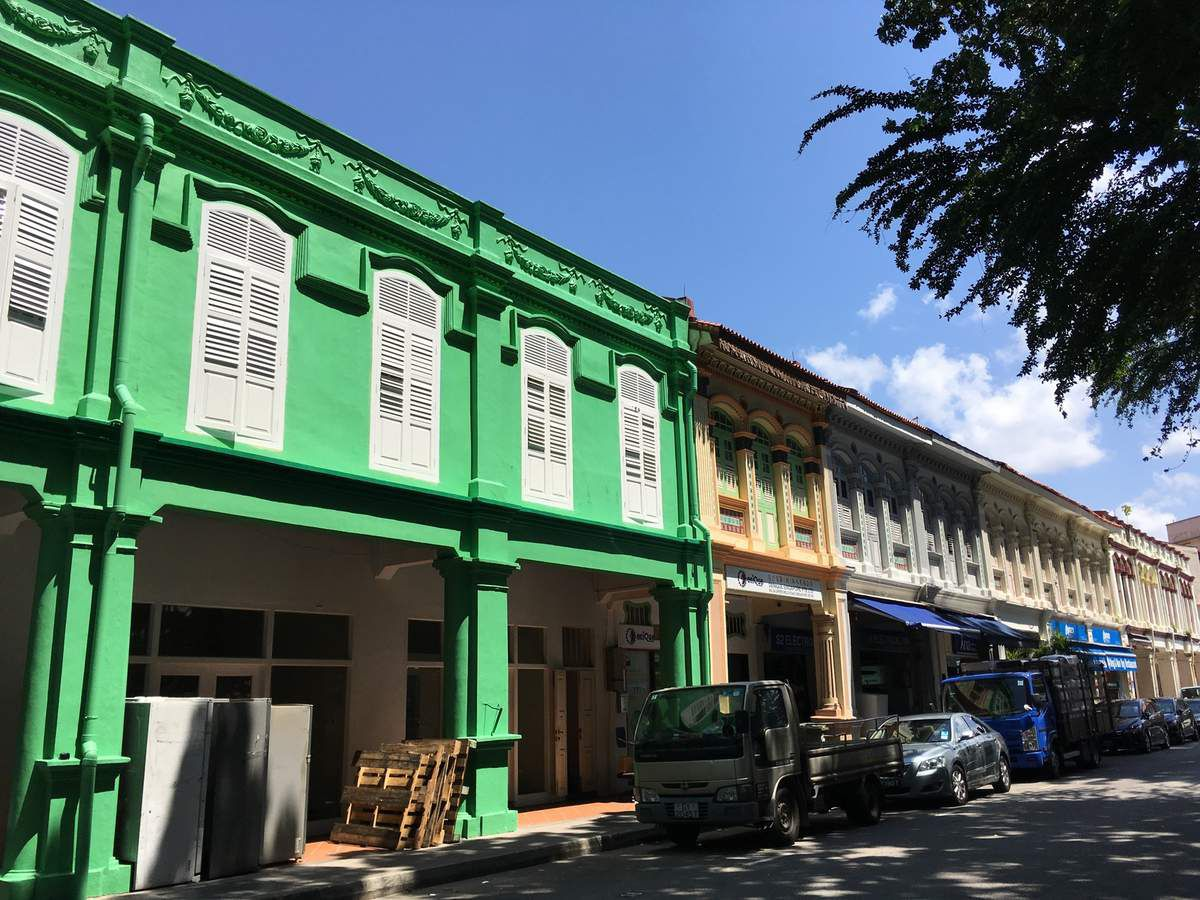QUARTIER LITTLE INDIA, maisons colorées