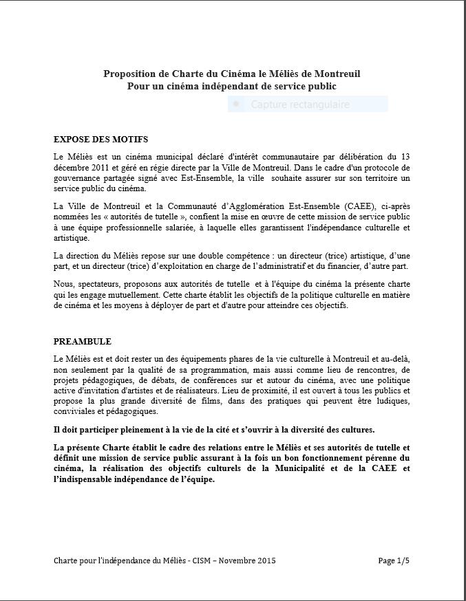 Séisme à Montreuil : le Méliès privatisé?