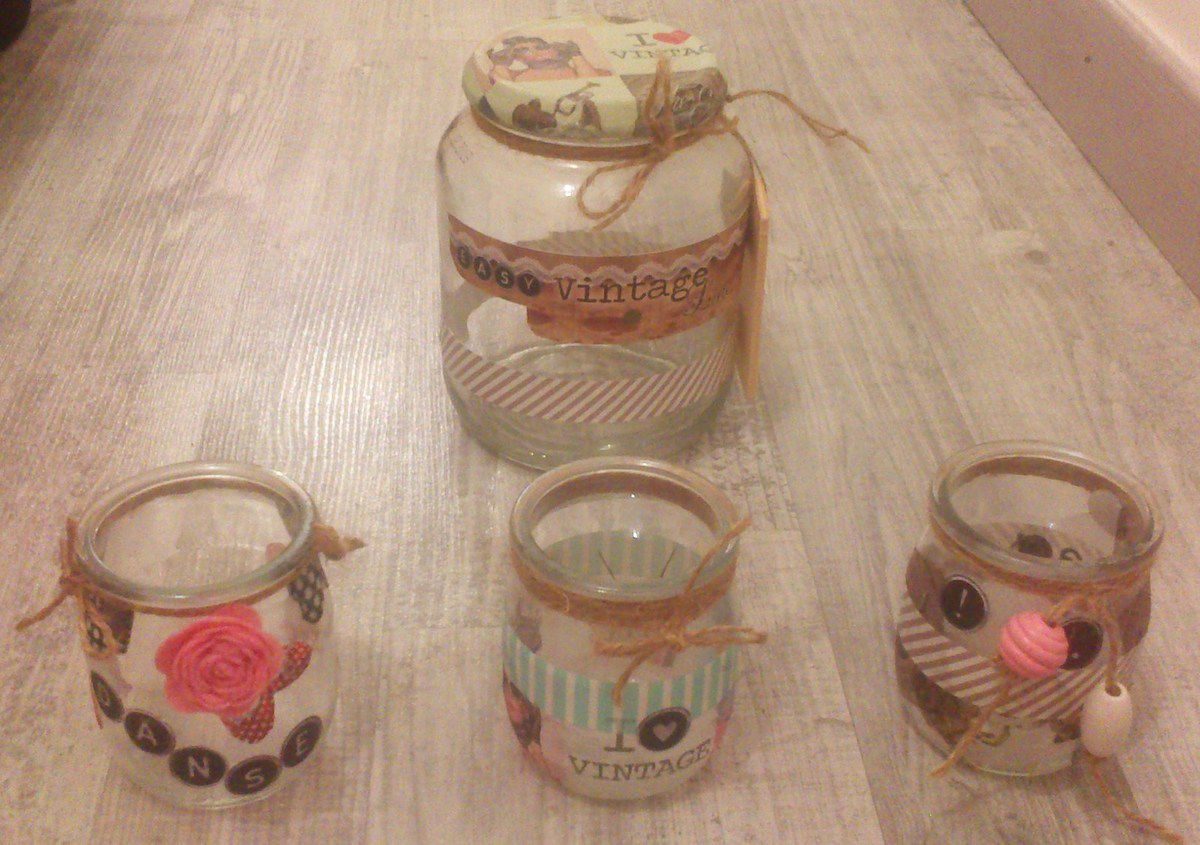 Cr ation creation de martine - Pot yaourt en verre ...