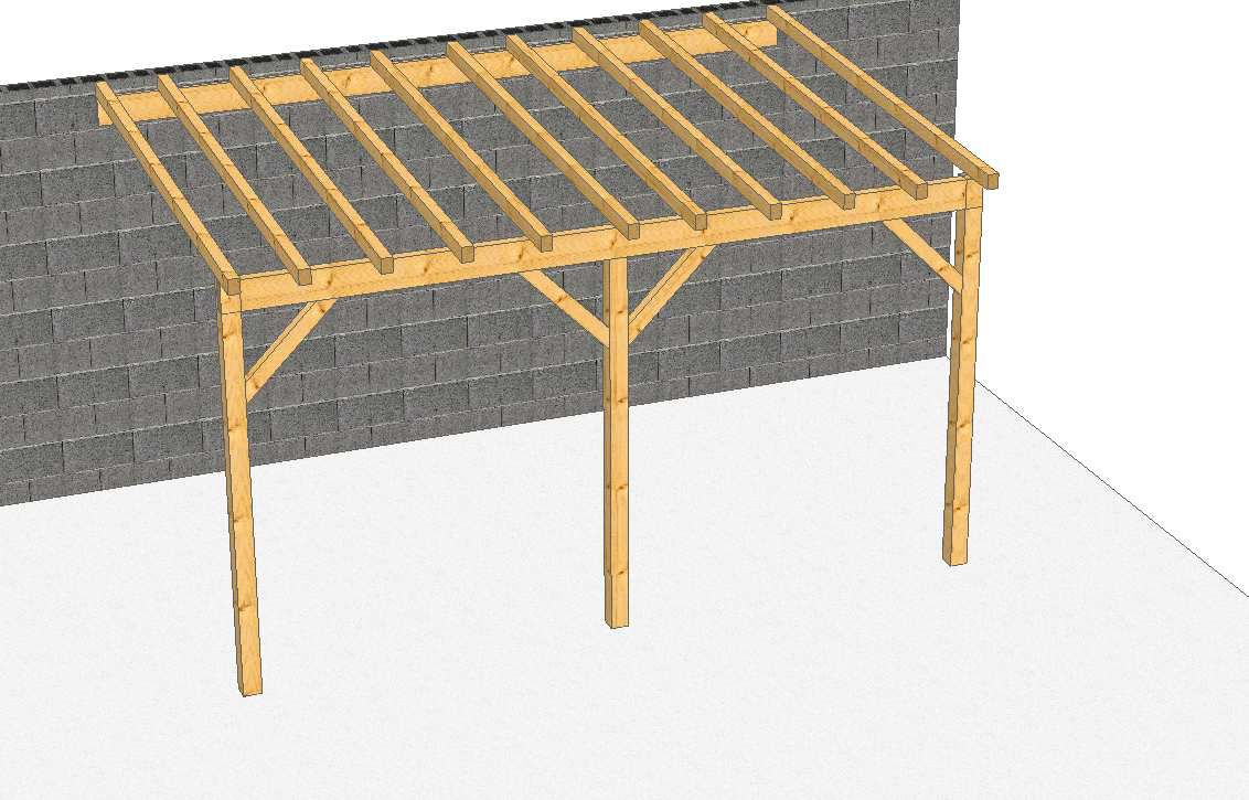pergolas adoss e construction de carport pergolas auvent et appenti en douglas. Black Bedroom Furniture Sets. Home Design Ideas