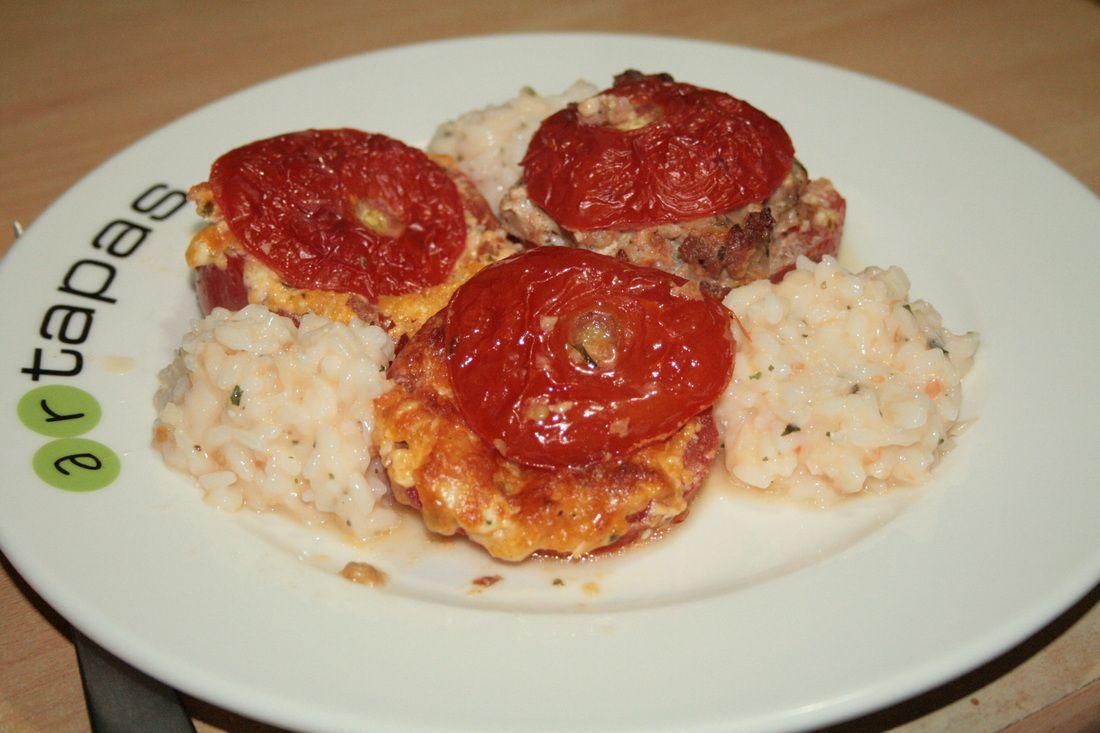 Duo de tomates farcies