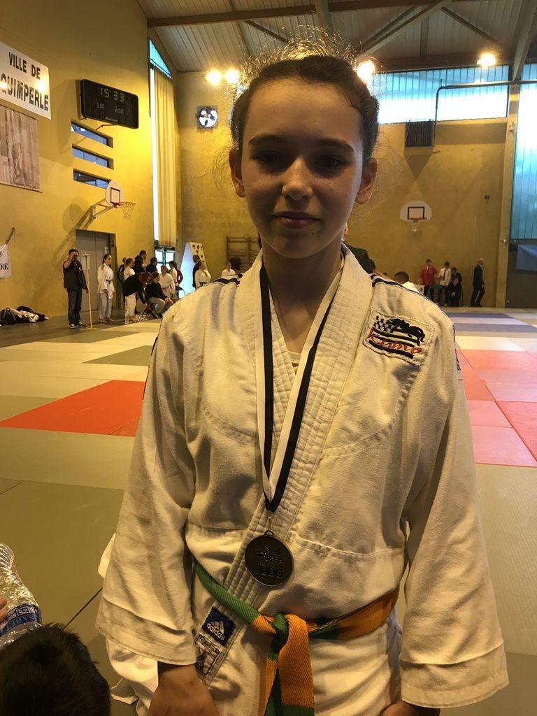 Championnat de Bretagne Benjamin : Maëlys Praud, Nirina Dirou et Axel Cakir sur le podium