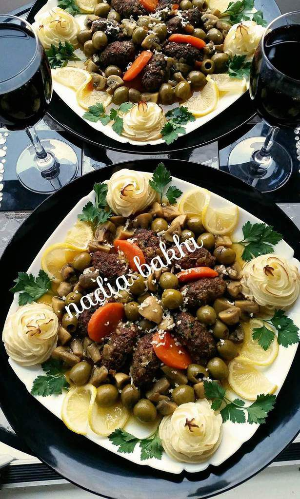 Kefta aux olives et champignons
