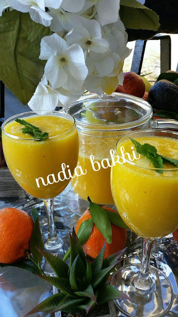Smoothie mangue, banane,orange