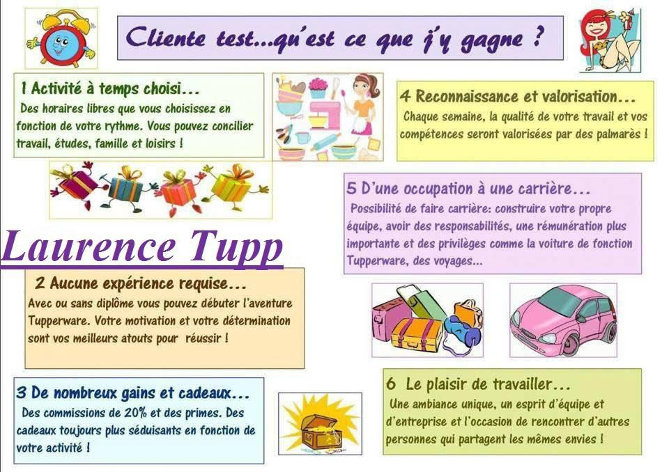 Recrutement devenir client test tupperware