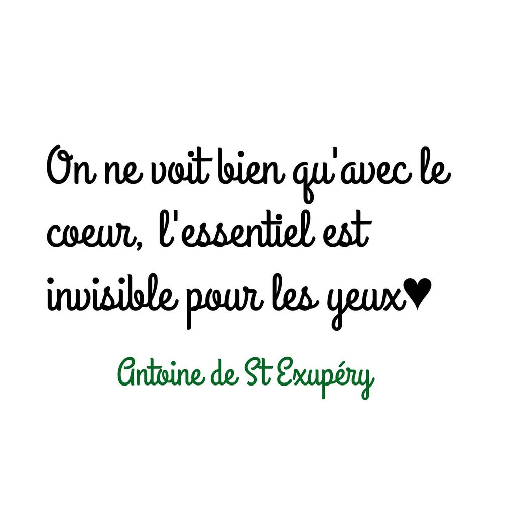 Citation d'Antoine de Saint Exupéry♥