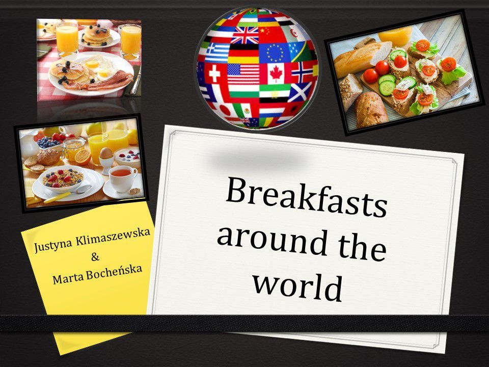 Two students prepared also two projects, one about breakfasts eaten all over the world. The calorie intake and the amount of macronutrients taken were studied and compared. The project was presented during the Foreign Languages Days held annually at school