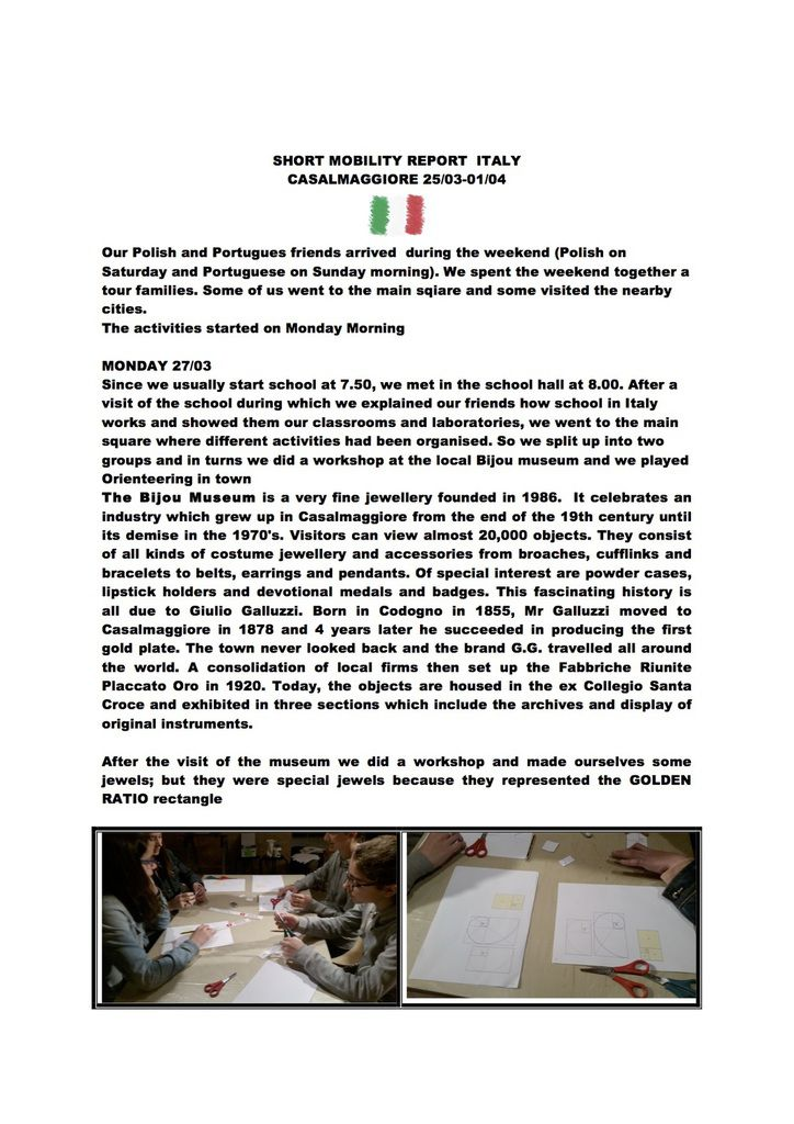 SM Italy report of the week