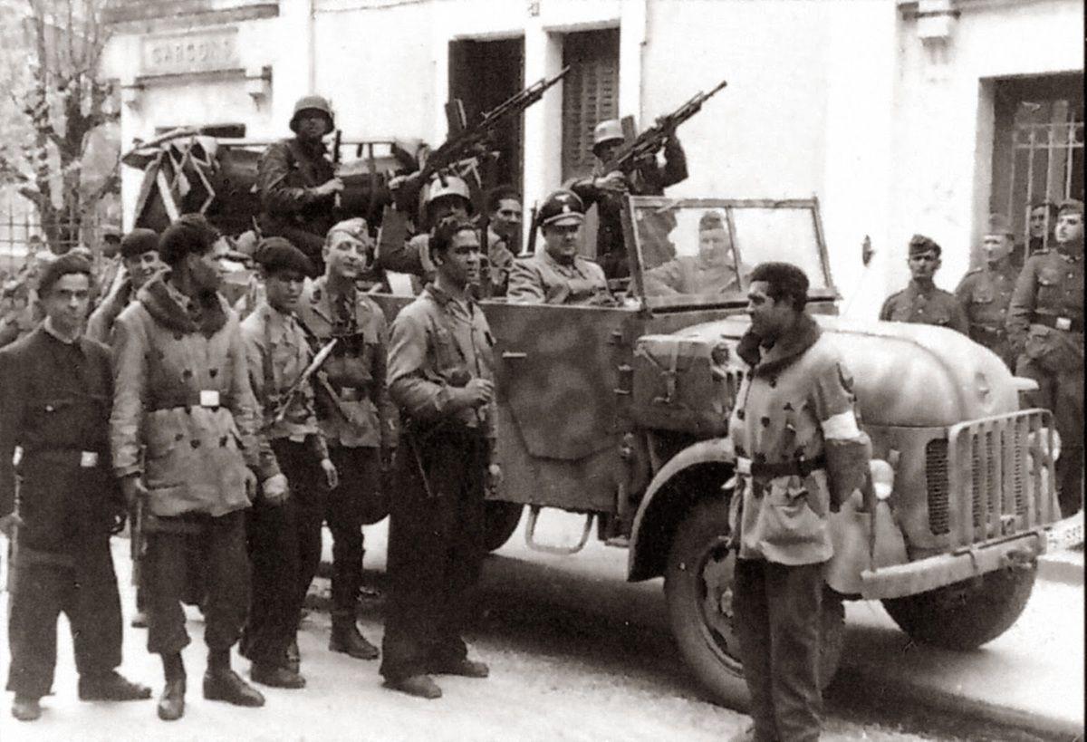 Supplétifs des SS, membres de la Légion nord-africaine...