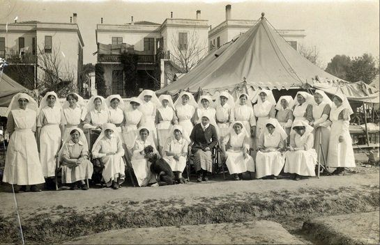 Scottish Women's Hospital unit during their time in France, Serbia and Salonica 1915-1918;