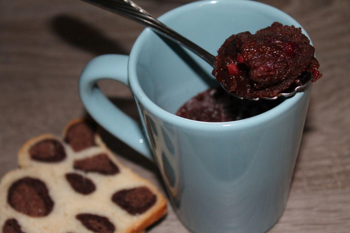 Mug cake fondant au chocolat