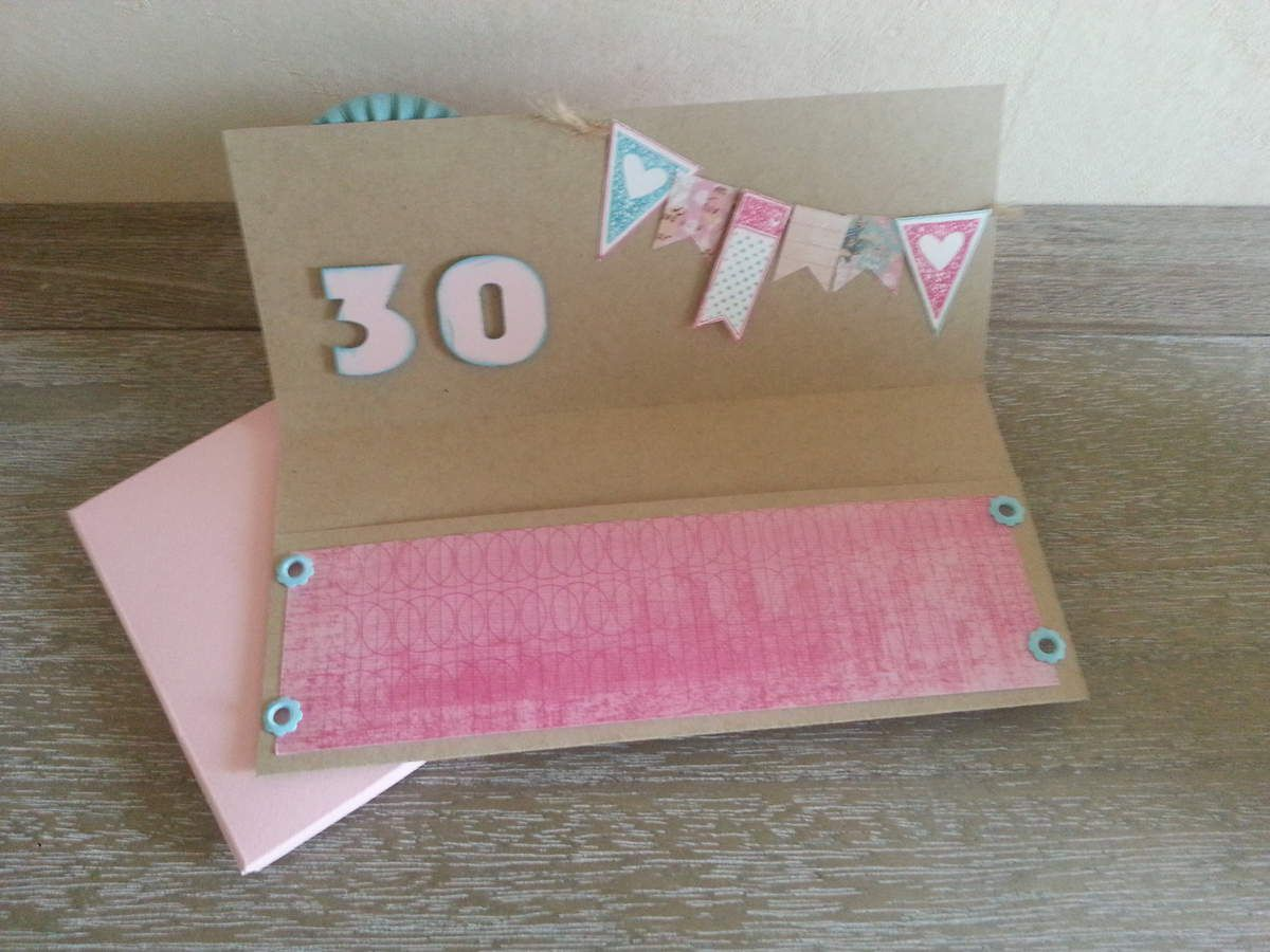 carte anniversaire 30 ans home made par laetitia. Black Bedroom Furniture Sets. Home Design Ideas