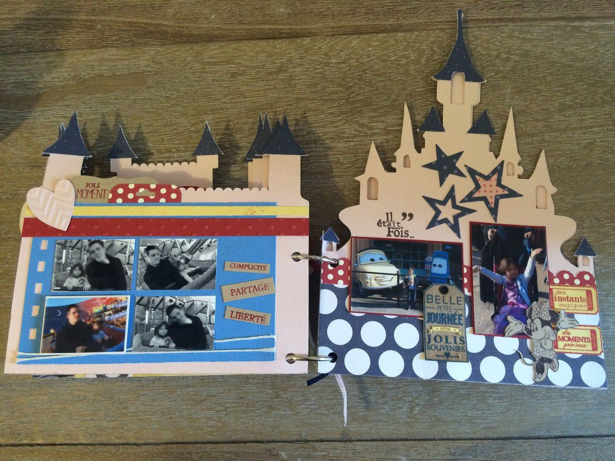 Mini album disneyland paris home made par laetitia for Album photo maison