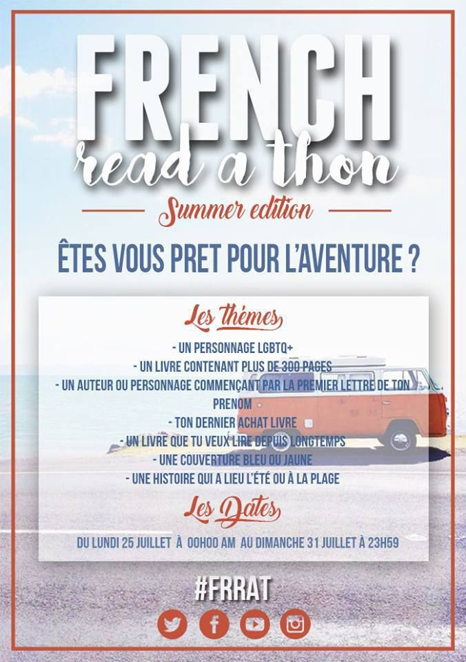 French Read a Thon - Edition Summer 2016 - Challenge