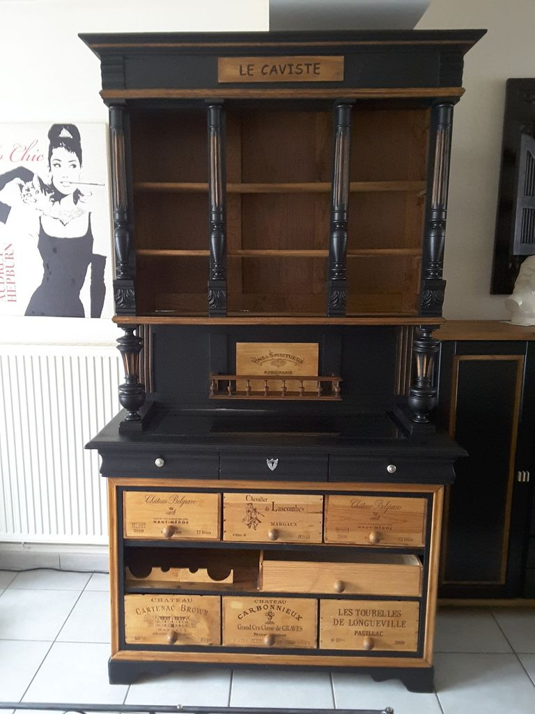 meuble vaisselier bar feijoo restauration et. Black Bedroom Furniture Sets. Home Design Ideas