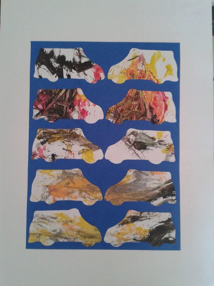 autre exemple de peinture recyclée (faite l'année dernière)