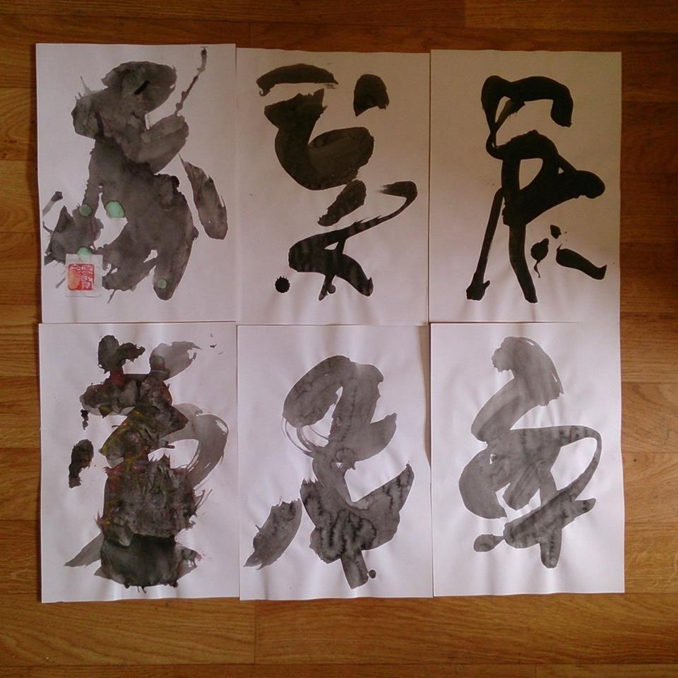 Lavi de calligraphies noir et blanc de 2016