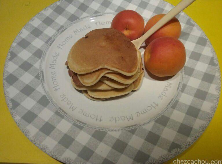 pancakes aux abricots avec ou sans companion thermomix ou autres robots chezcachou. Black Bedroom Furniture Sets. Home Design Ideas