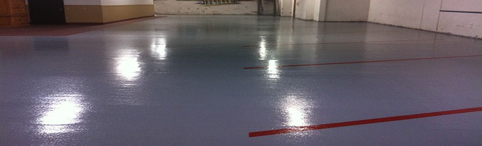 Epoxy Floor Coating Instantly Transforms and Protects Cement Surfaces