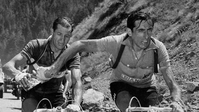 Les étapes du Tour de 1950 &#x3B; Ferdi Kubler vainqueur du Tour &#x3B; Emile Baffert, vainqueur au Parc des Princes 1950 &#x3B; Jean Robic &#x3B;  Fausto Coppi à droite et Gino Bartali à gauche. Puis les champions Robic, Bobet, Bartali dans le Tourmalet &#x3B; Arrivée à Saint-Gaudens de Bartali vainqueur. Fiorenzi Magni maillot jaune à Saint-Gaudens 2 photos &#x3B; Abdelkader Zaaf posant pour une pub et lors de son malaise.