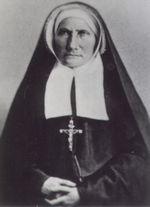 Marie Saint-Frai fondatrice de l'ordre et son habit de religieuse.