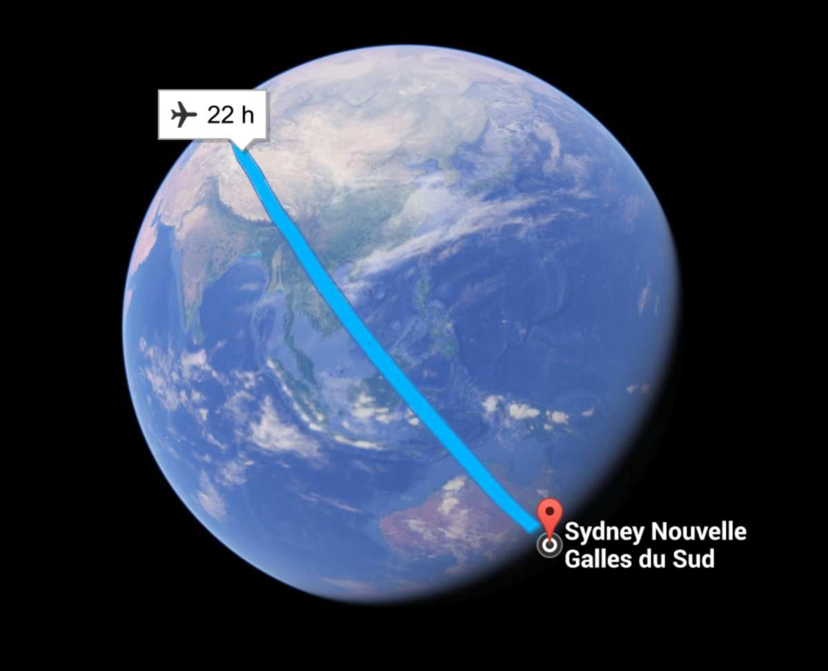 The google Earth view of our travel