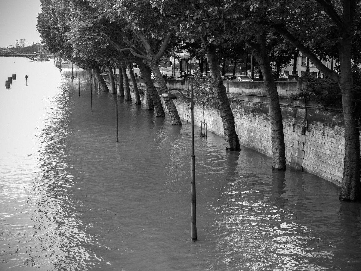 Les voies sur berge innondées