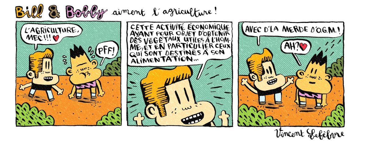 Bill et Bobby aiment l'agriculture
