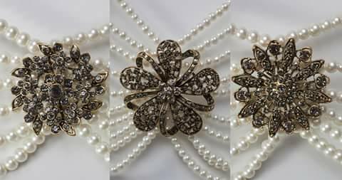 Différents motifs pour colliers de perles